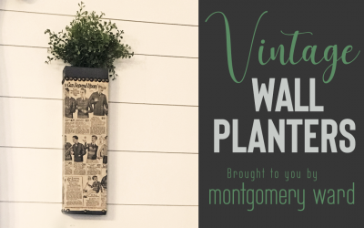 Vintage Wall Planters