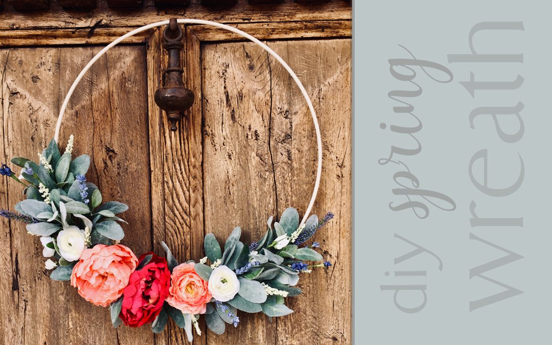Easy DIY Spring Wreath with Flowers