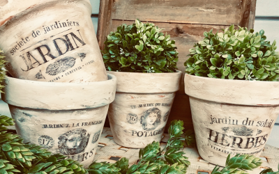 FRENCH POTS: DIY with free printable