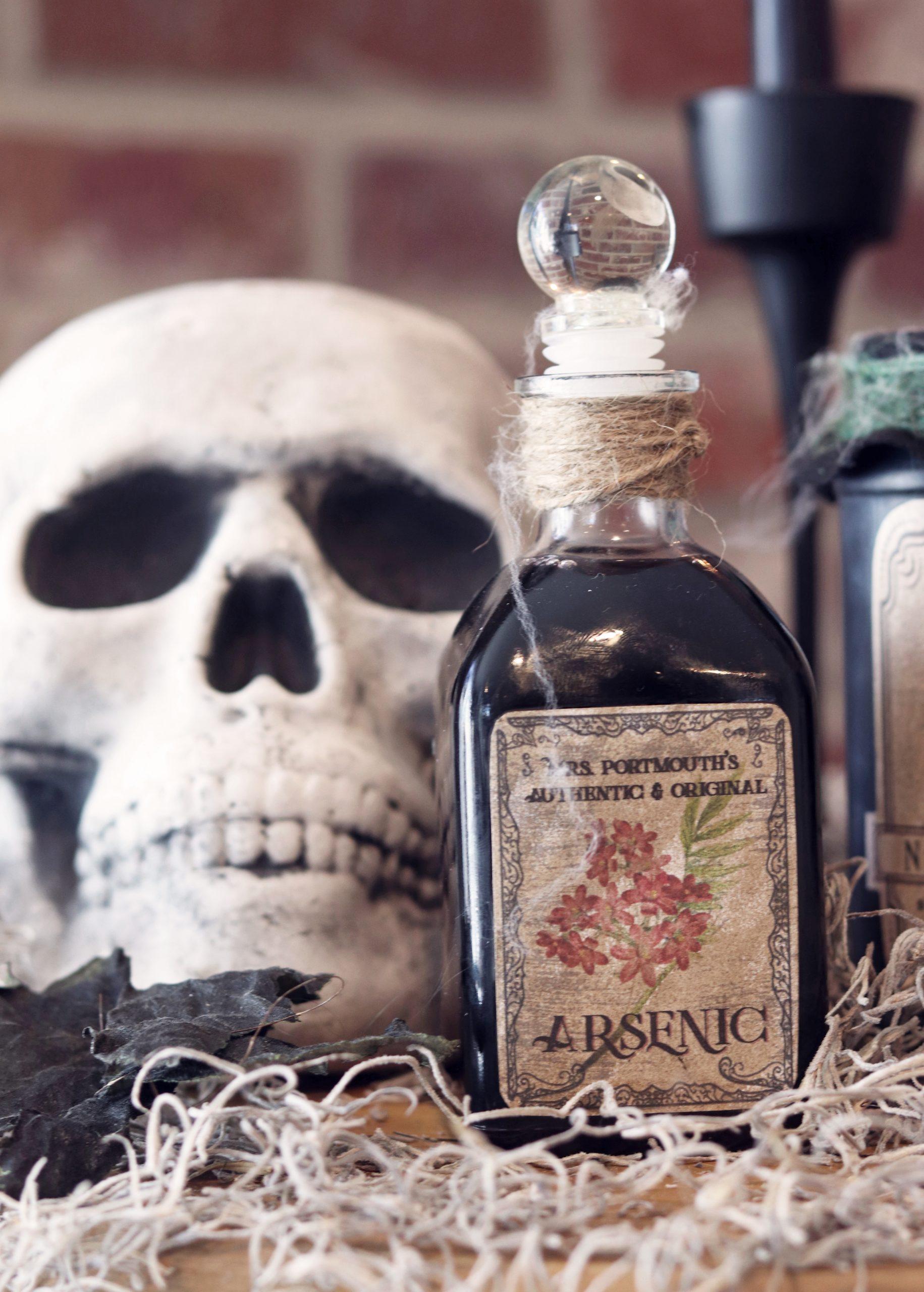 Boroughfare Arsenic Potion Bottle Halloween Decor
