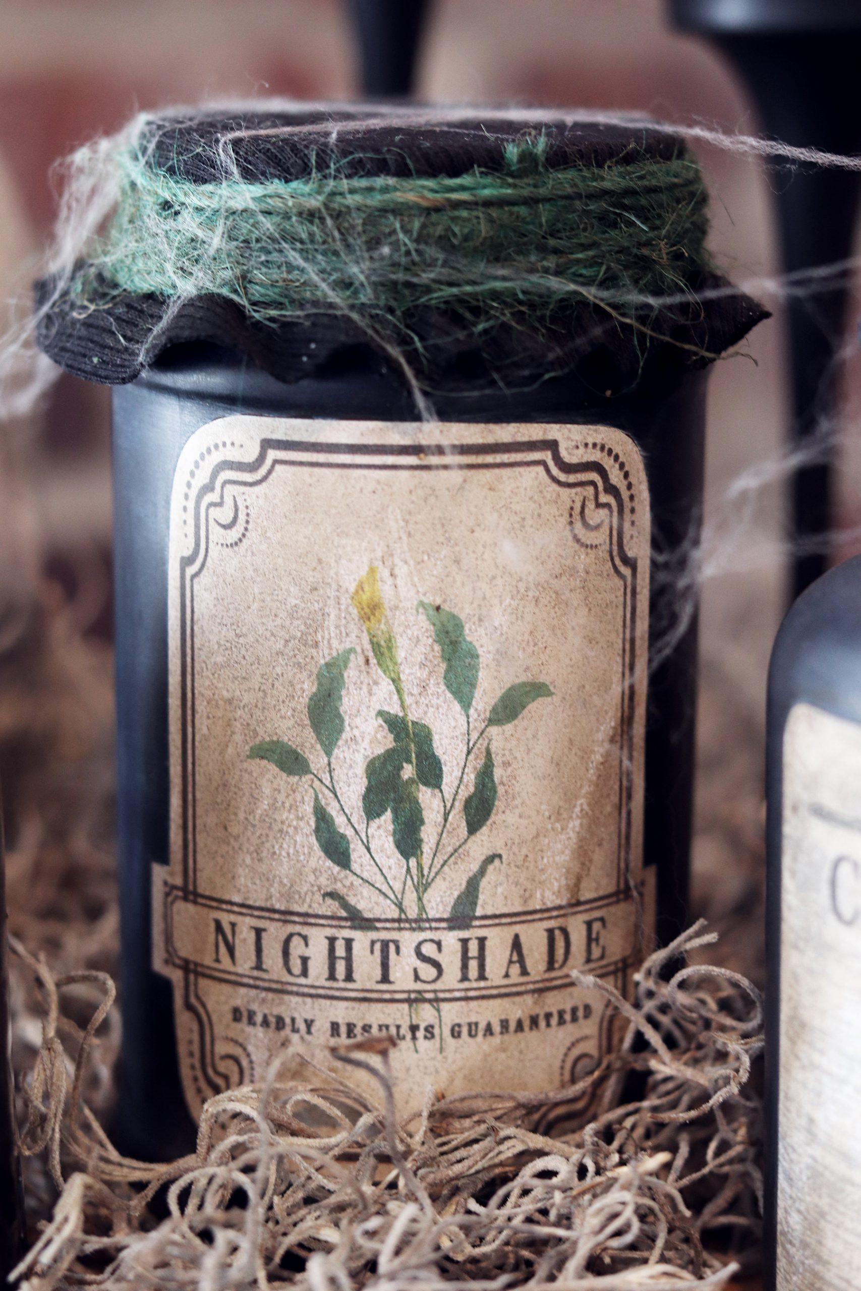 Boroughfare Nightshade Potion Bottle Halloween Decor