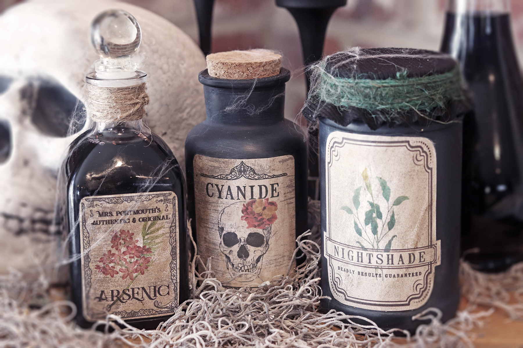 Boroughfare Home Halloween Spooky Potion Bottles