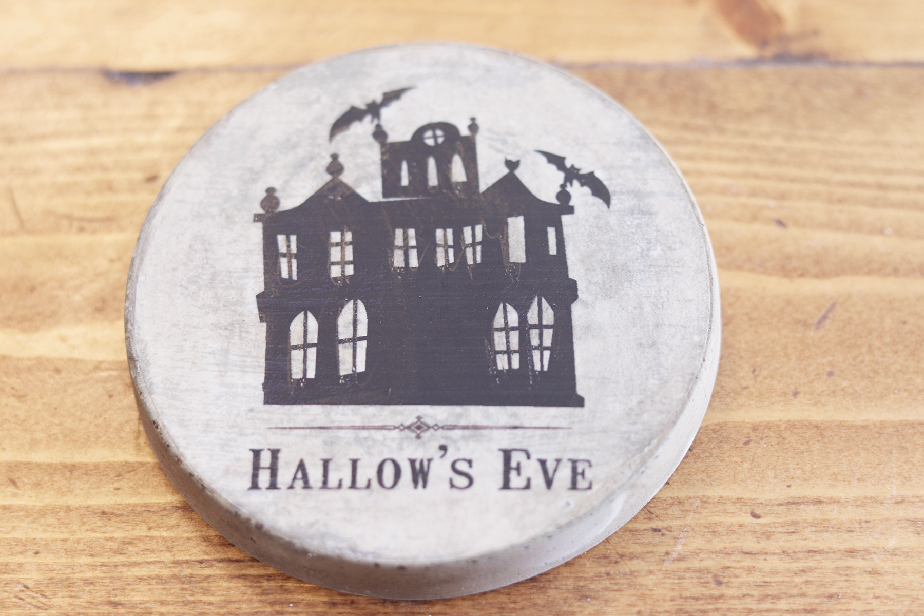 Boroughare Home Halloween Label on Coaster