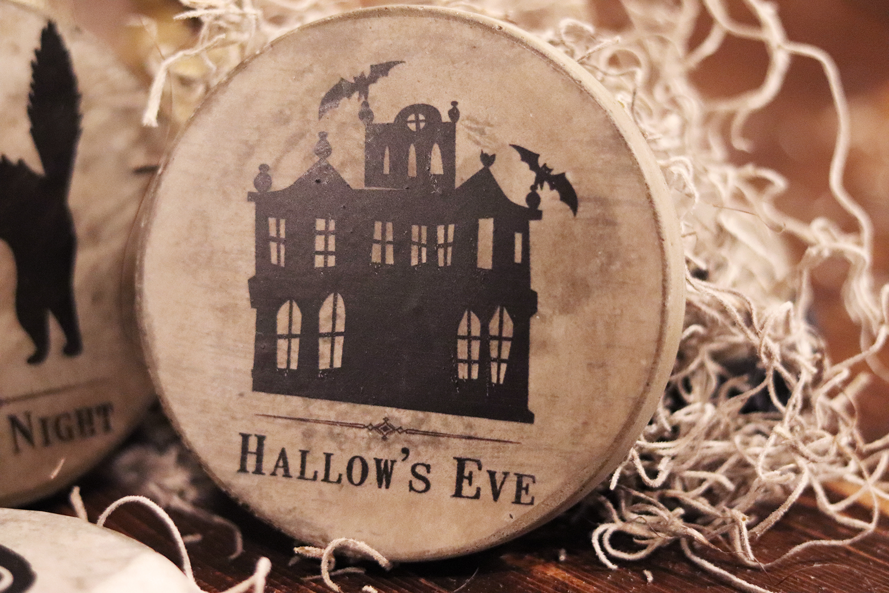 Boroughfare Home Halloween Themed Haunted Mansion Cement Coaster