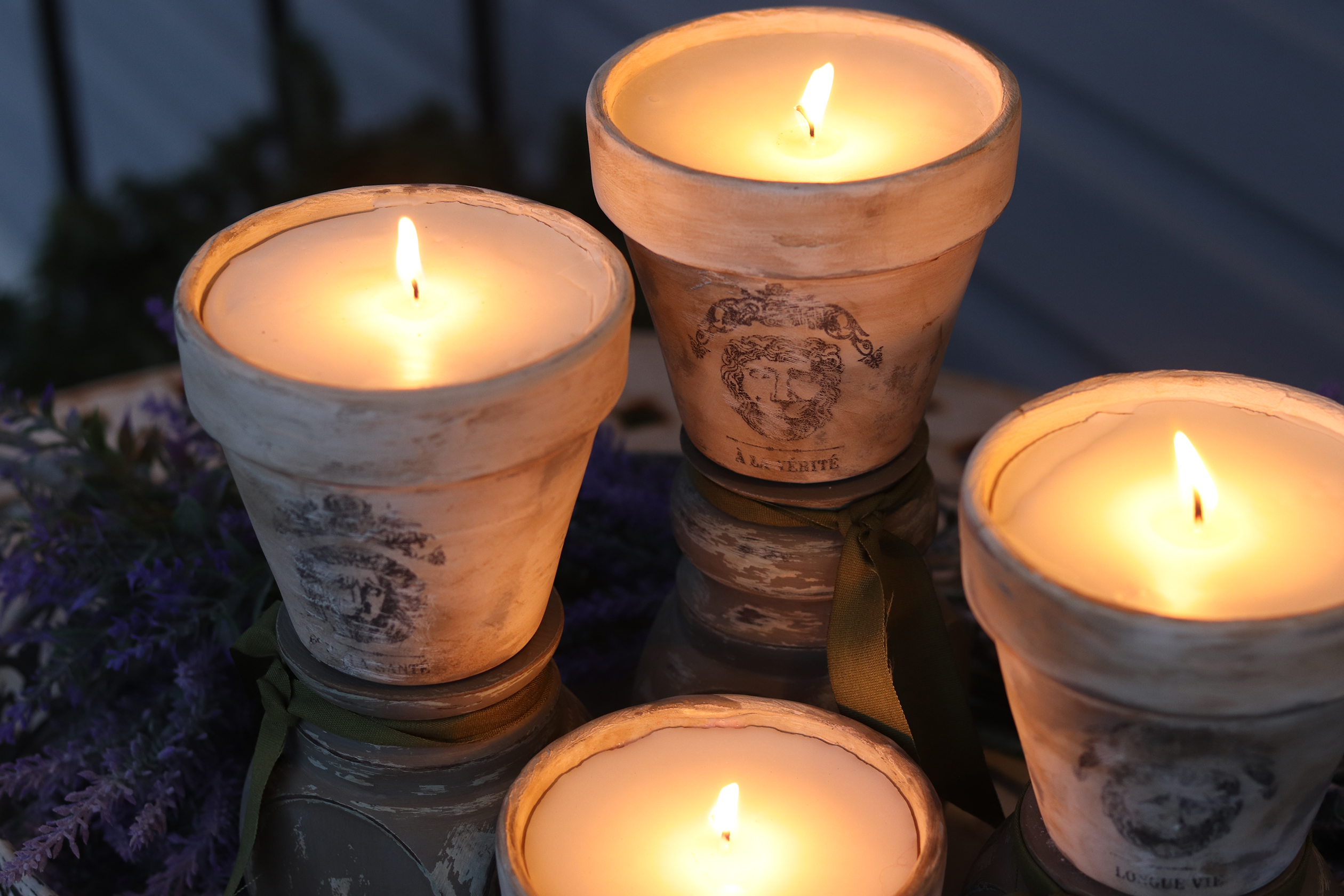 Boroughfare Home French Pot Candle DIY Lit for Evening
