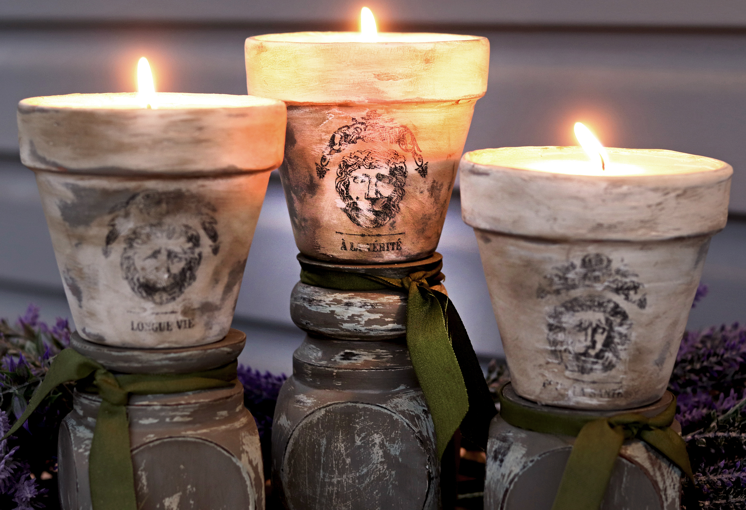 Boroughfare Home DIY Old World Inspired Candles Lit Up