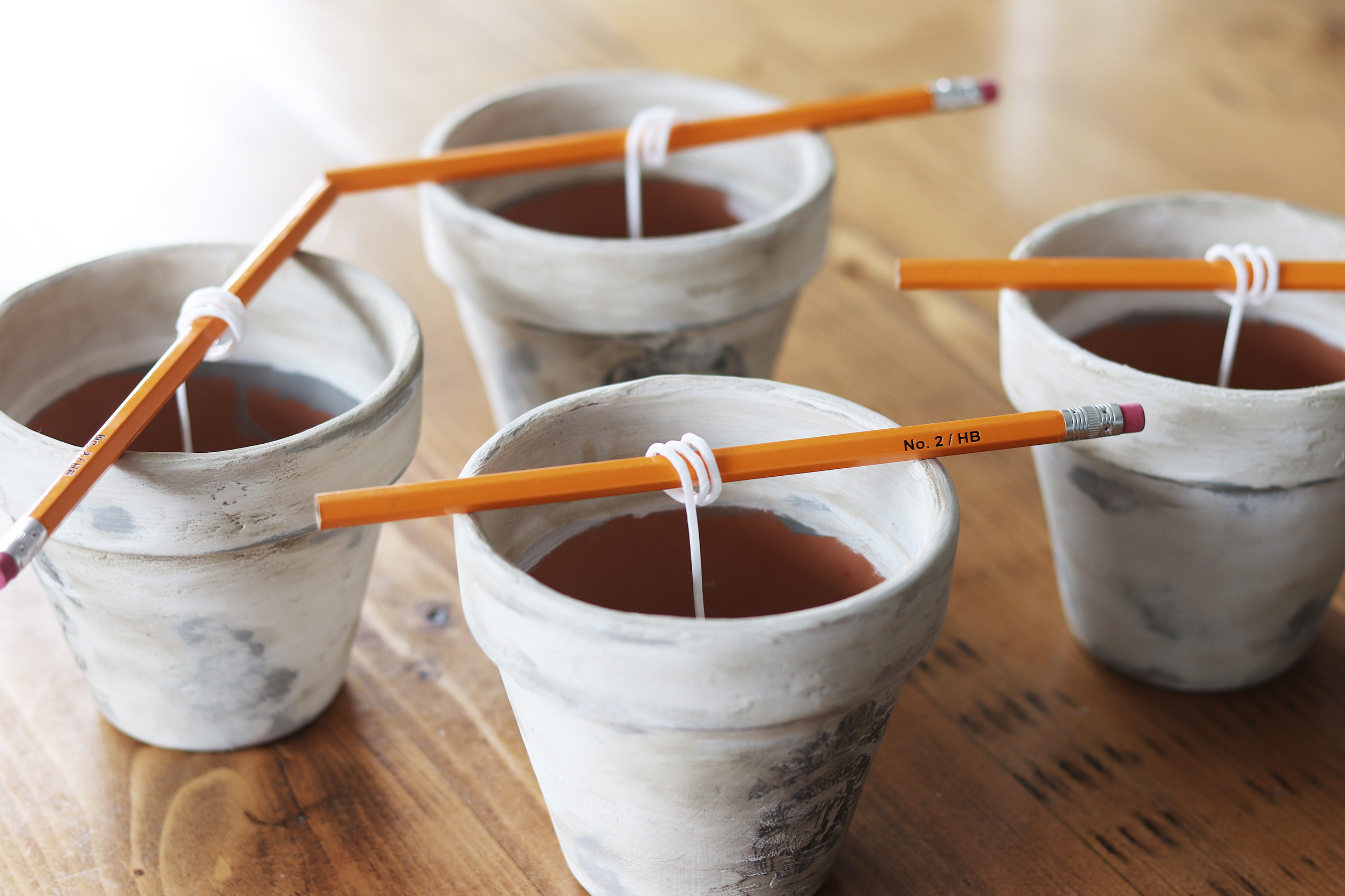 Boroughfare Home French Inspired Candles with Wicks Coiled on Pencils