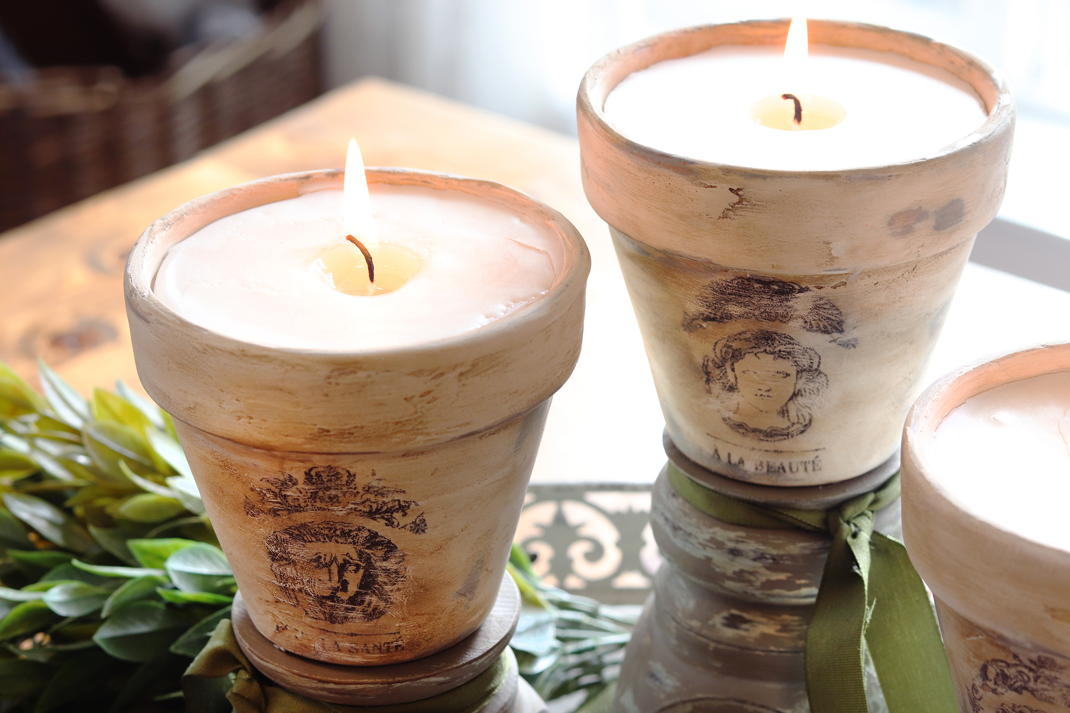 Boroughfare Home French Inspired Candles Homemade with Terra Cotta Pots