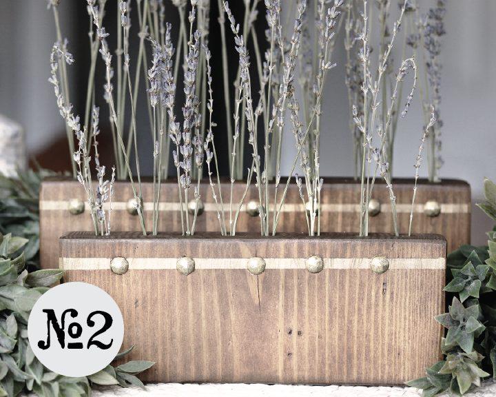 Boroughfare Home Vintage Lavender Sets Option #2 with Gold Tacks