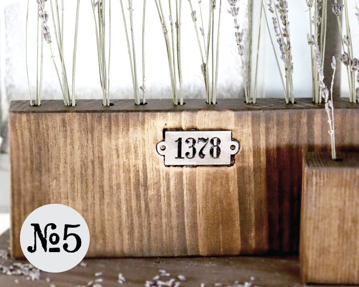 Boroughfare Home Vintage Lavender Set Option #5 with Metal Number Decals