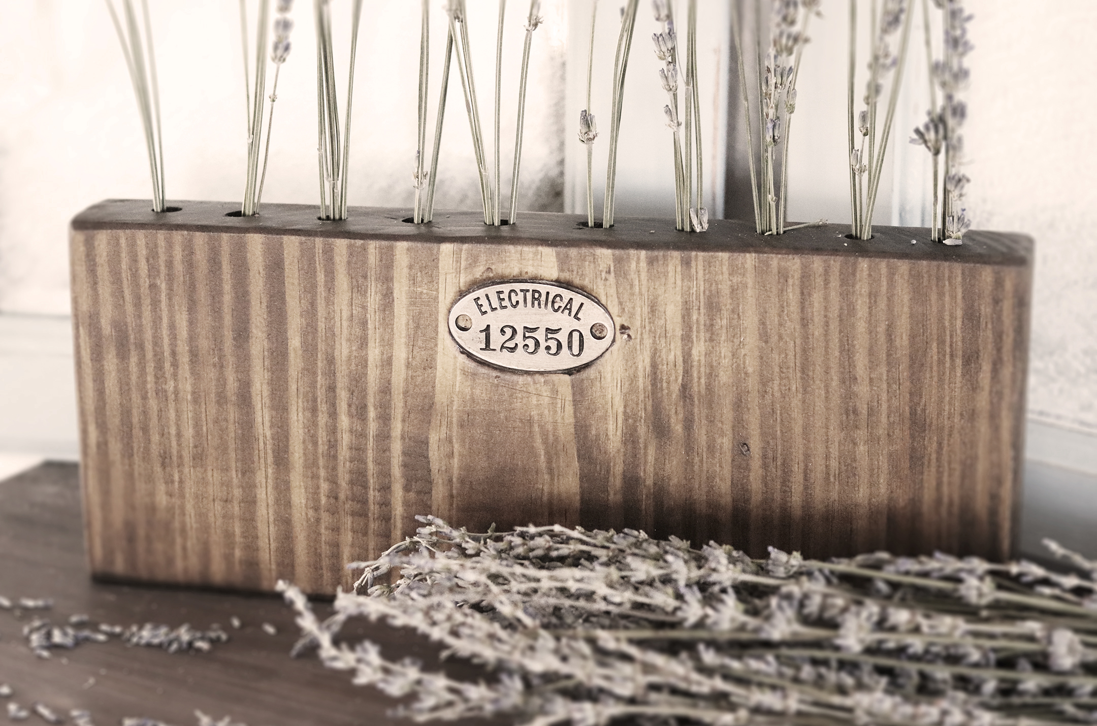 Boroughfare Home Vintage Lavender Set with Metal Decals