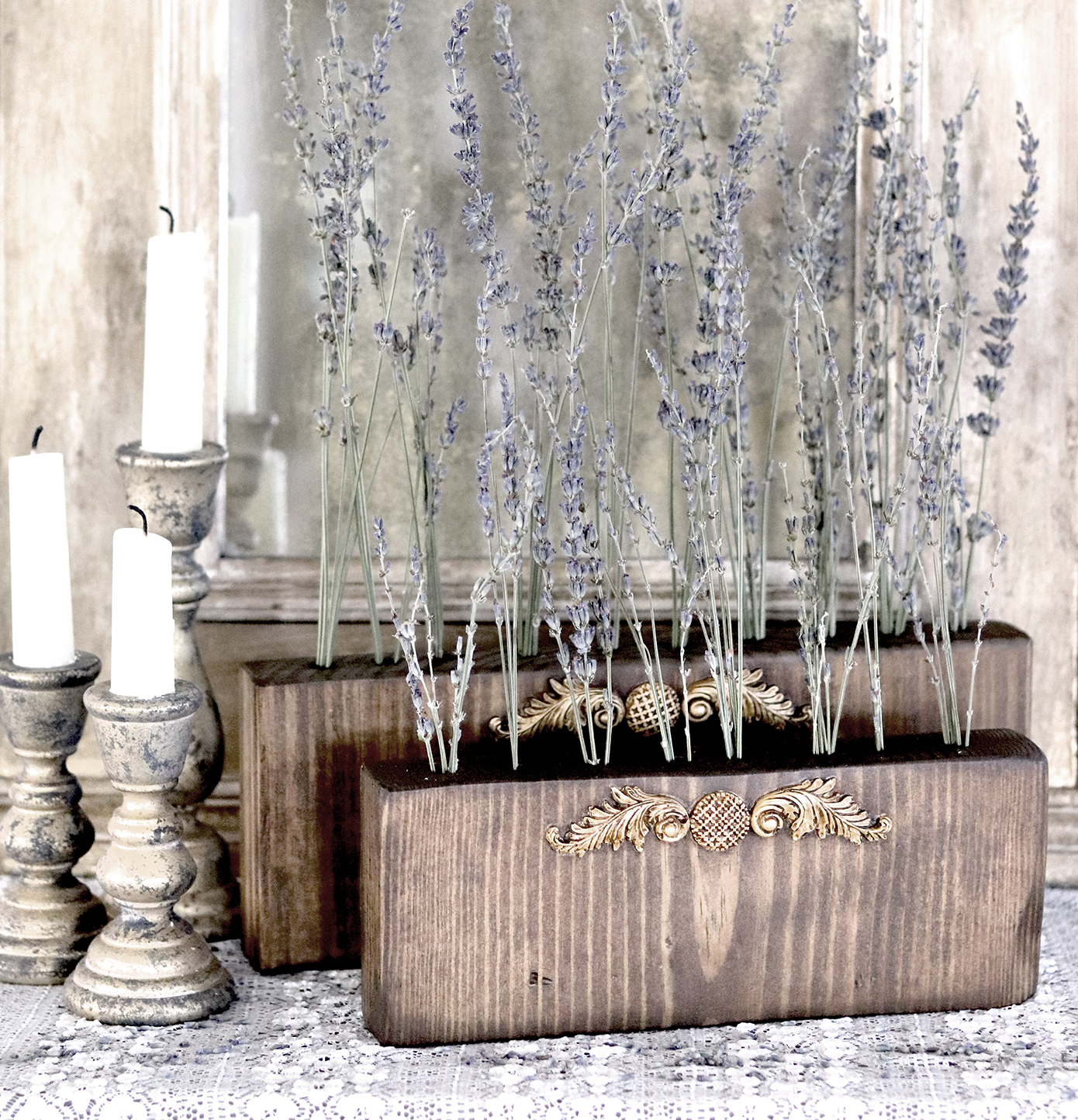 Boroughfare Home Vintage Lavender Set with French Decor