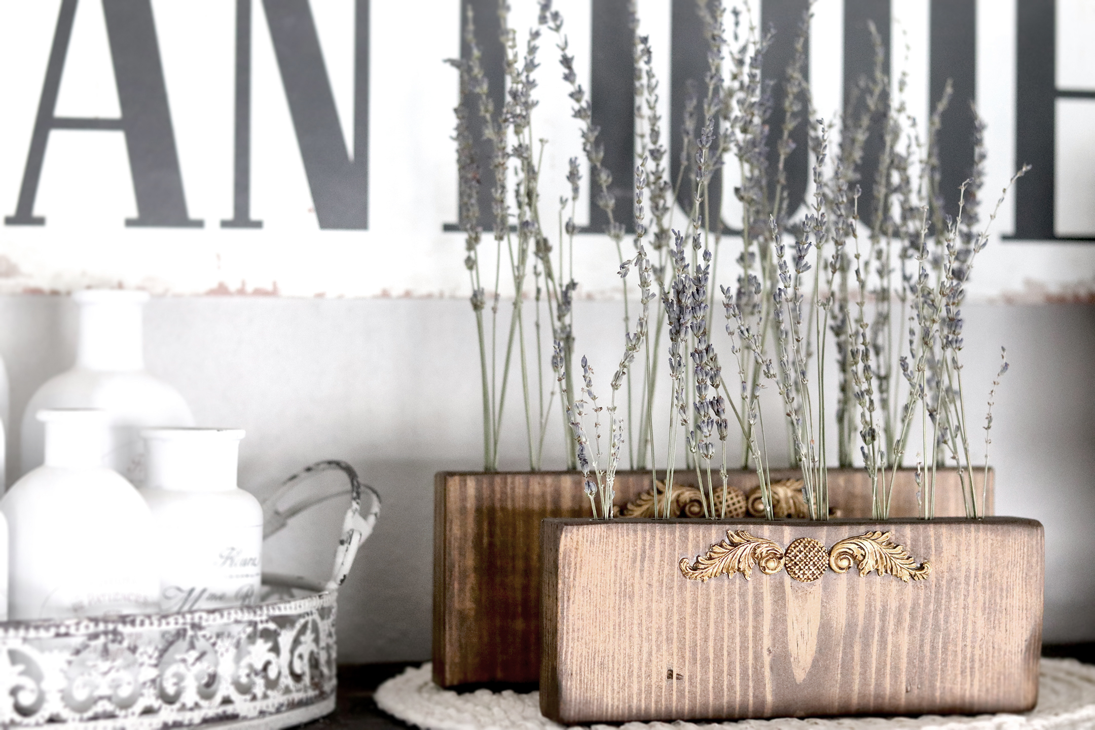 Boroughfare Home Vintage Lavender Stand DIY Project with French Design