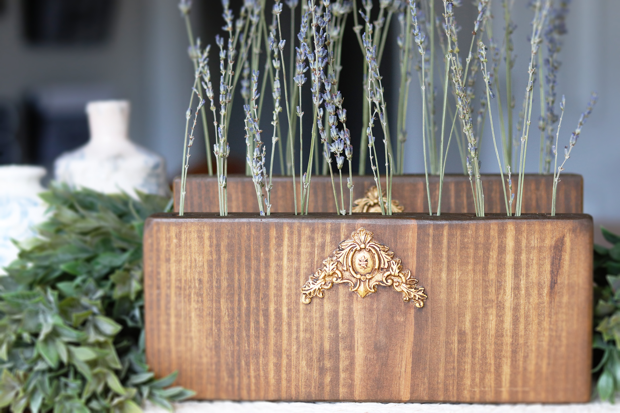 Boroughfare Home Vintage Home Decor with Lavender and Wood