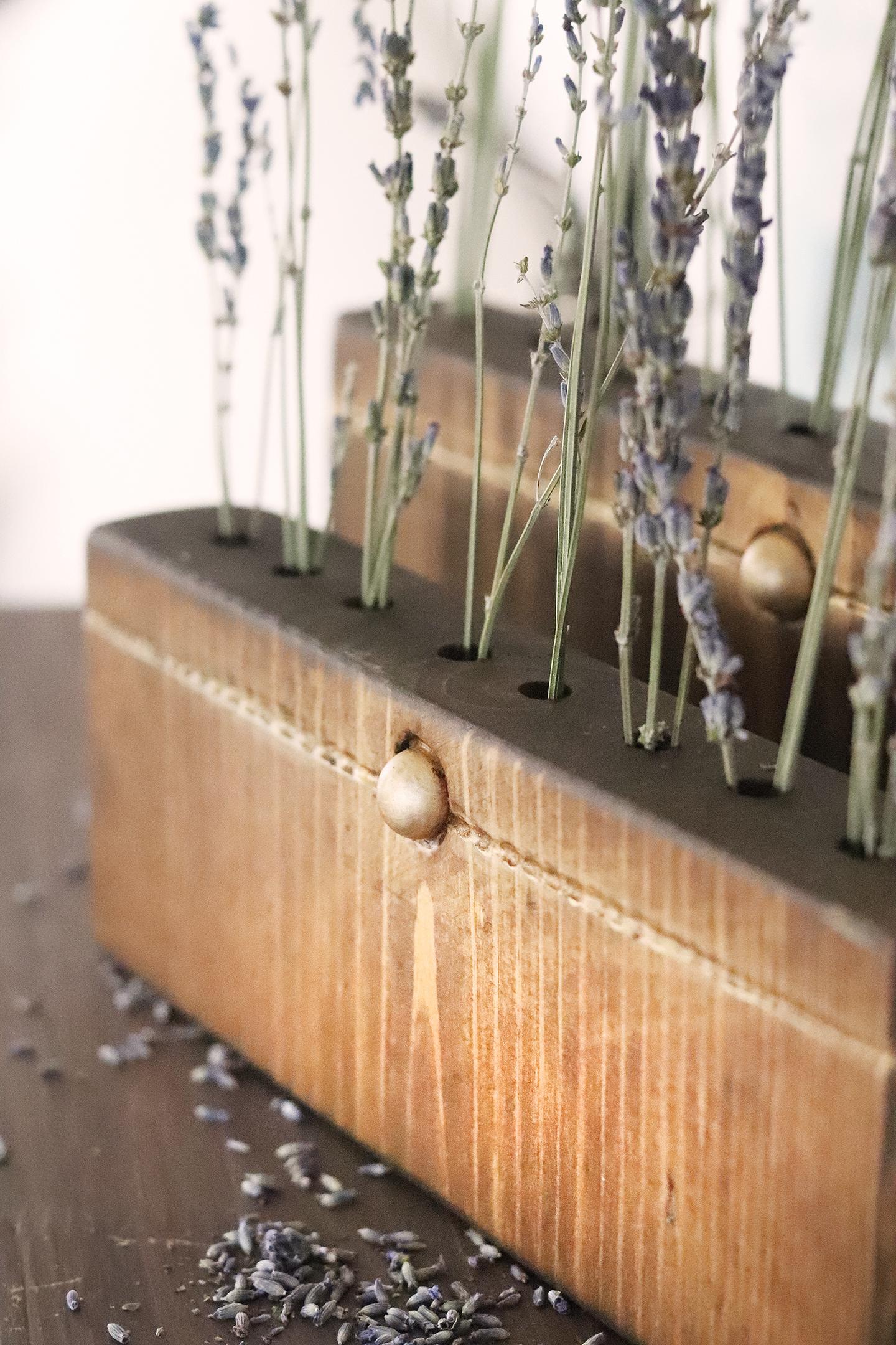 Boroughfare Home Vintage Lavender Set Antique Gold Button Closeup