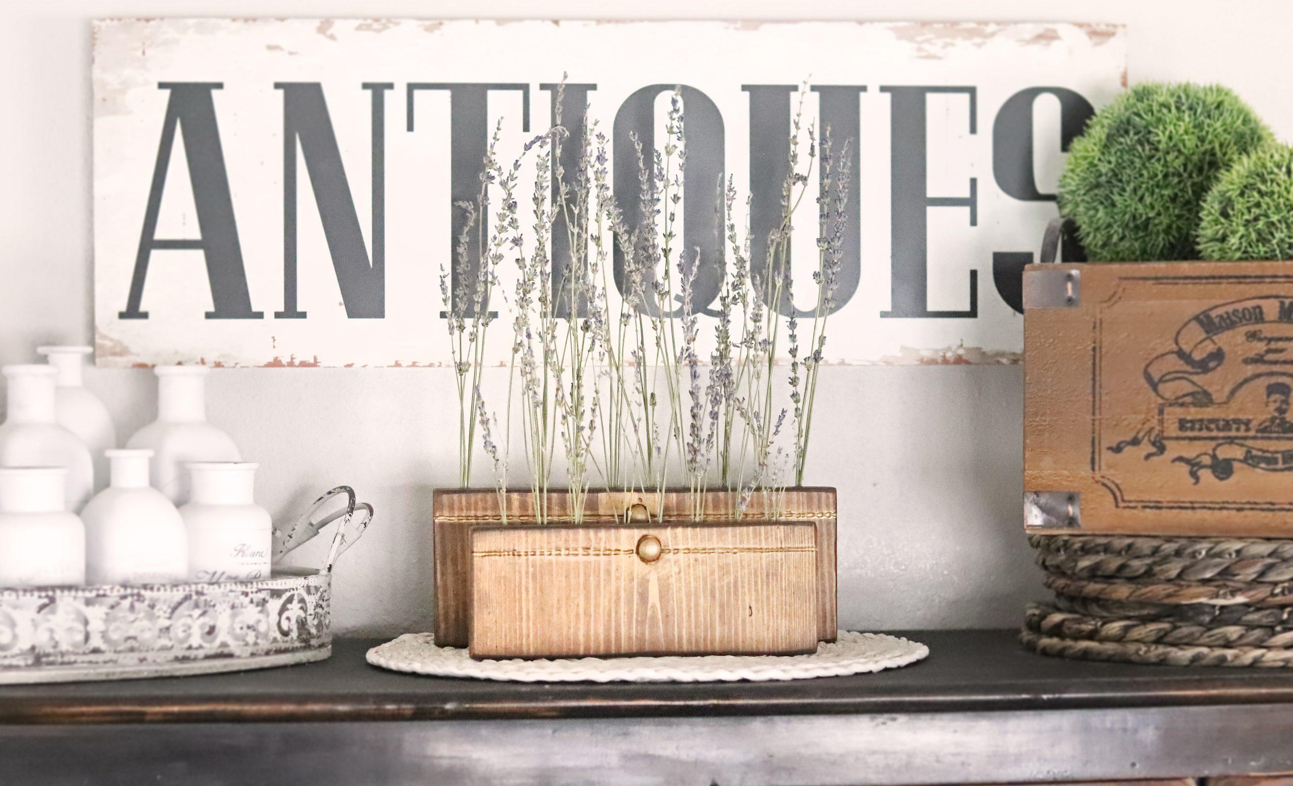 Boroughfare Home Vintage Lavender Sets with Antique Gold Button