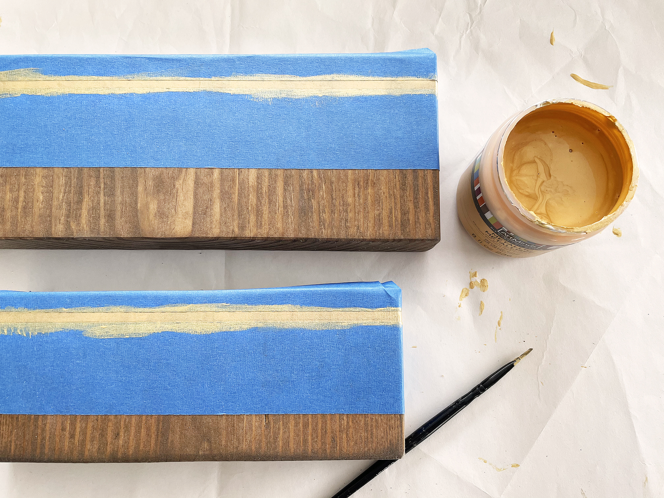 Boroughfare Home Vintage Lavender Stand DIY Project with Metallic Gold Paint on Wood