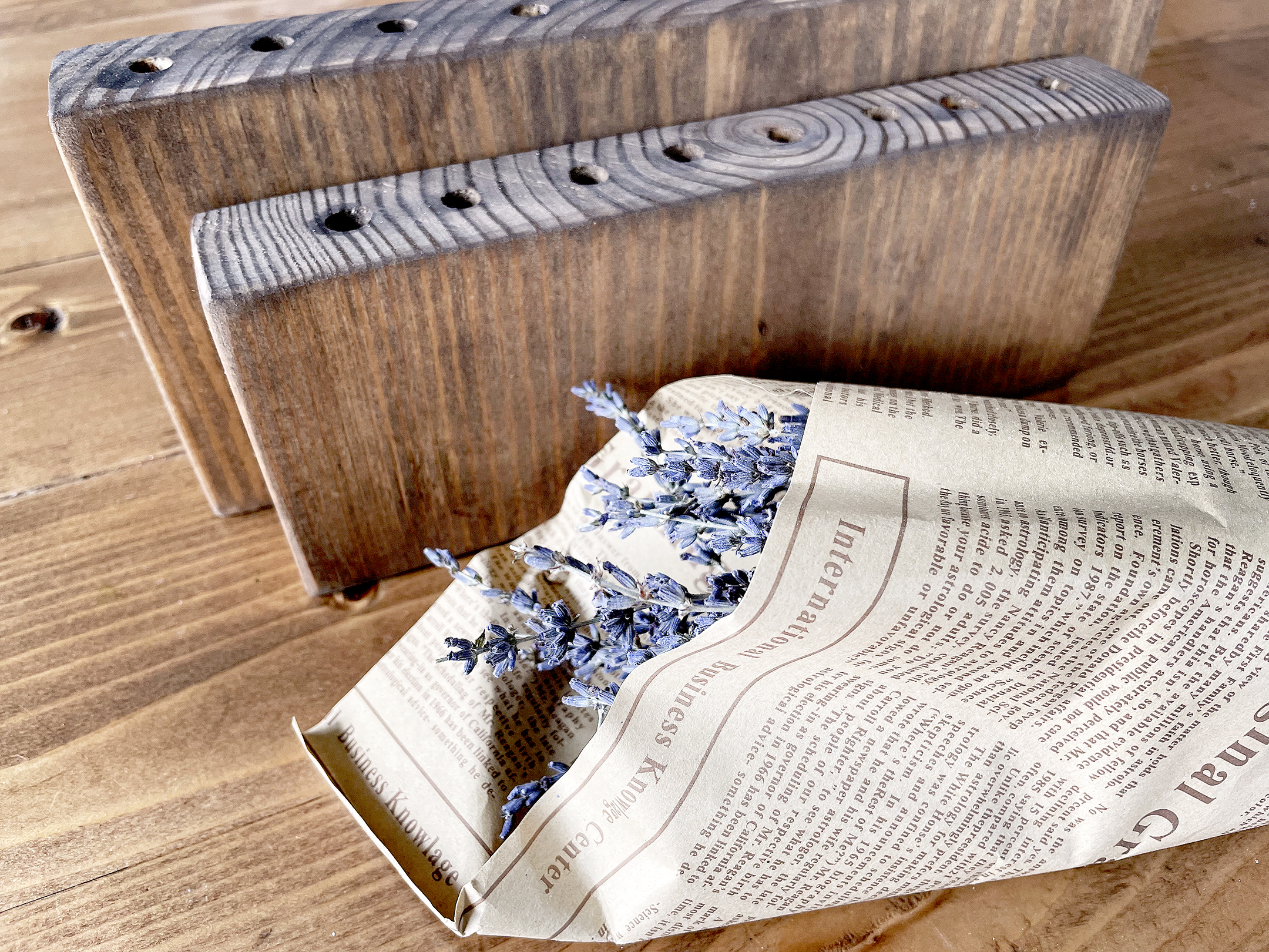 Boroughfare Home Vintage Lavender DIY Project with Dried Lavender and Wood