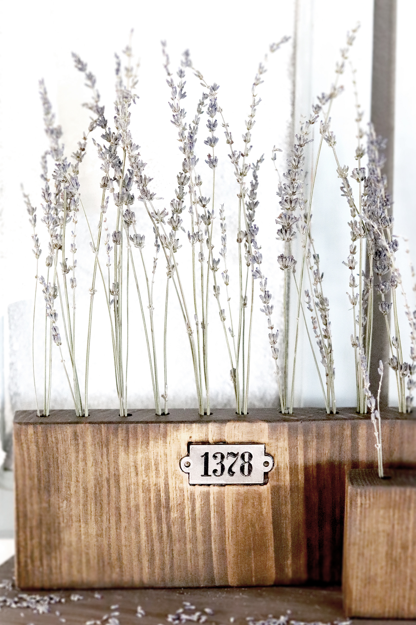 Boroughfare Home Vintage Home Decor of Lavender Wood and Metal