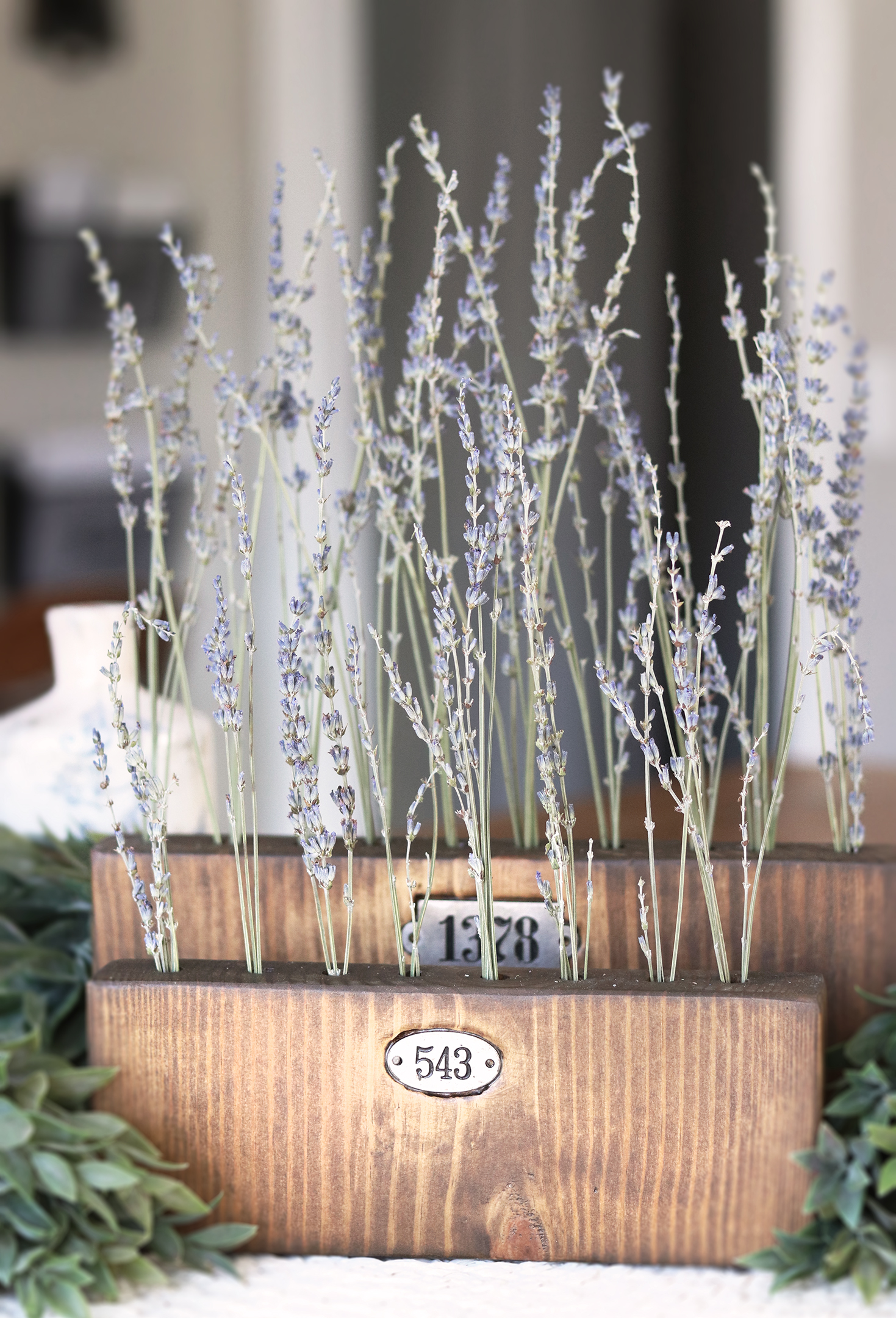 Boroughfare Home Vintage Home Decot Lavender Set with Metal Number Decals