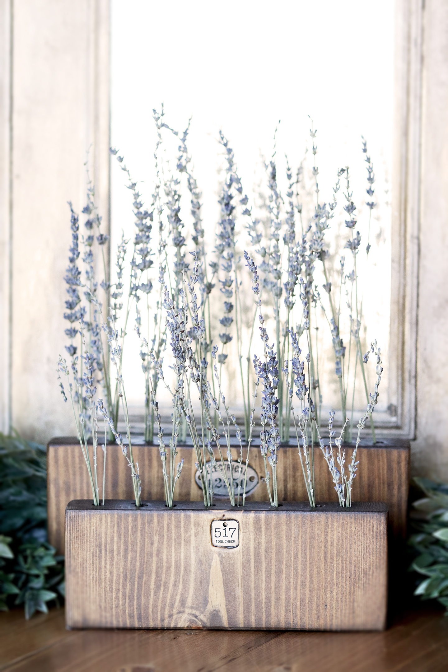 Boroughfare Home Vintage Lavender Set with Metal Number Decals Vertical