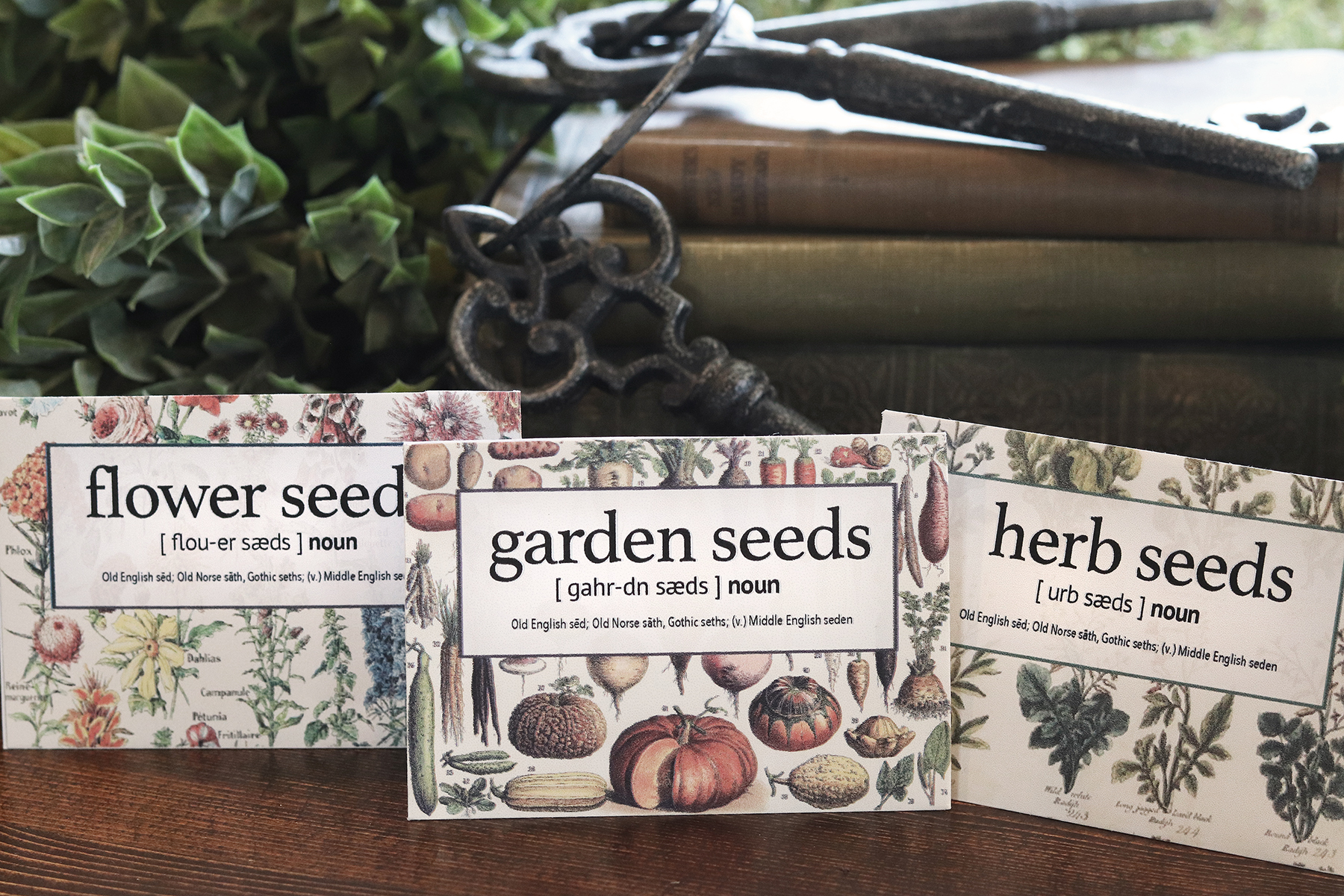 Boroughfare Home Cottage Garden Seed Packet Set