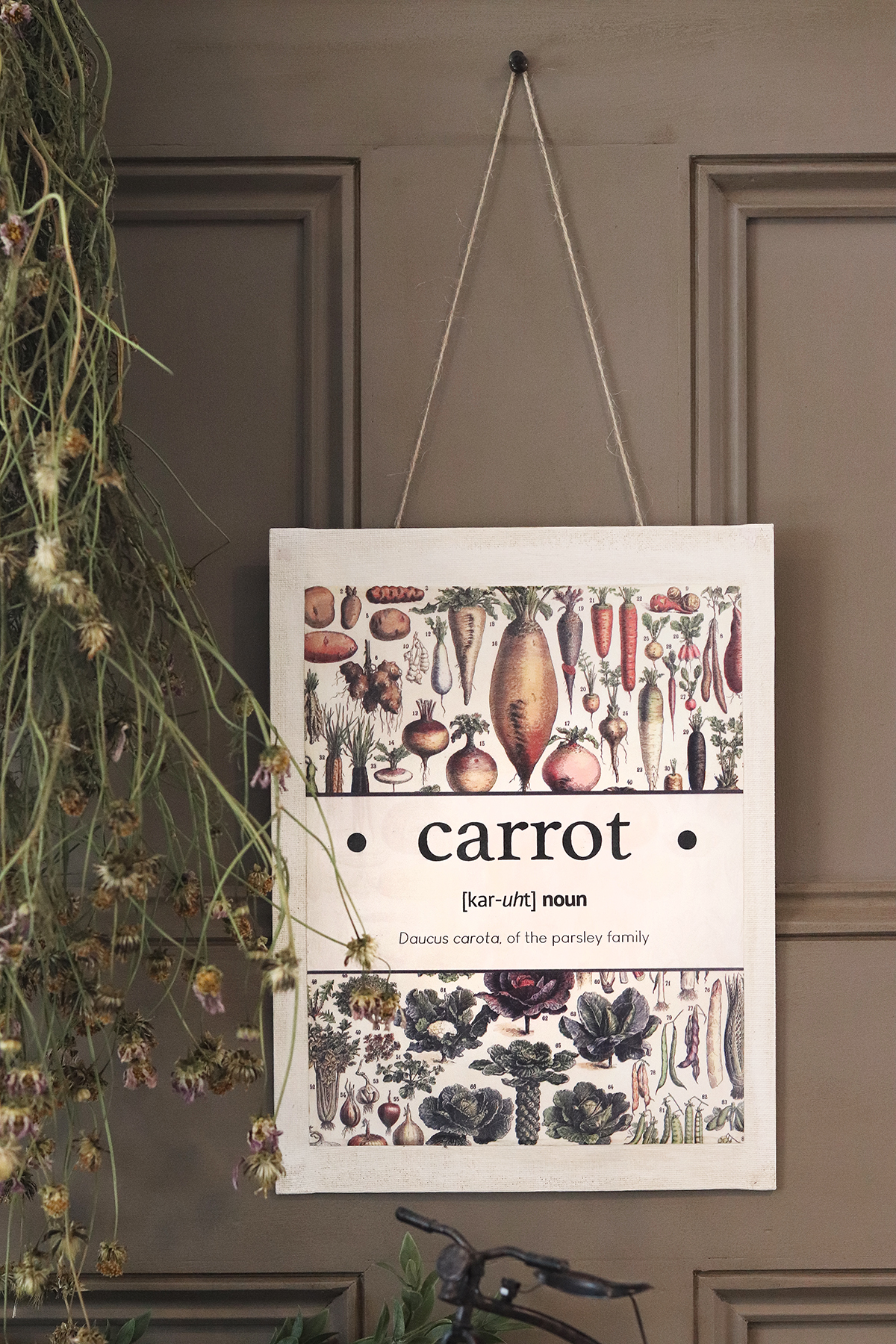 Boroughfare Home Cottage Garden Wall Hanging Carrot Closeup