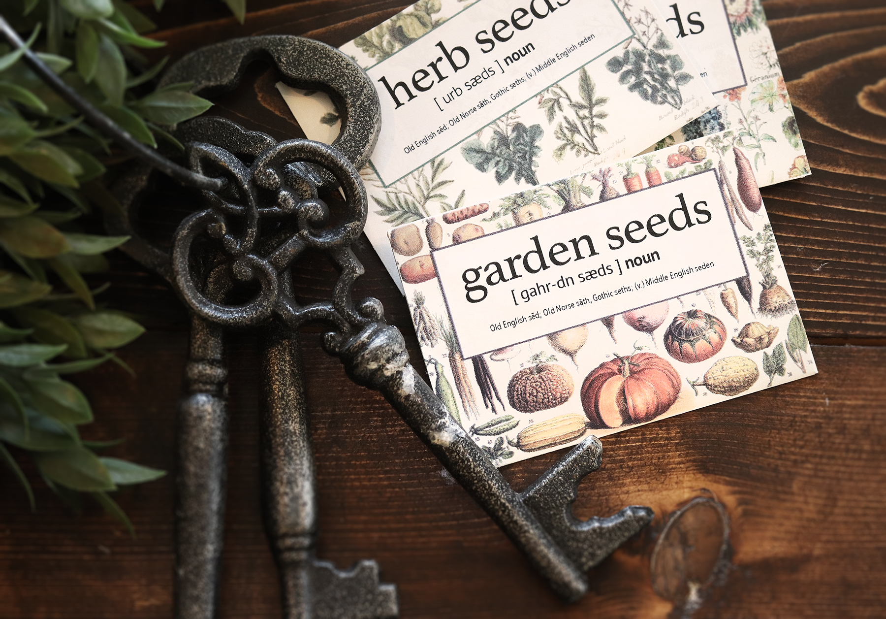 "English Cottage  ""Cottagecore"" Seed Packets for Gifting and Storage"