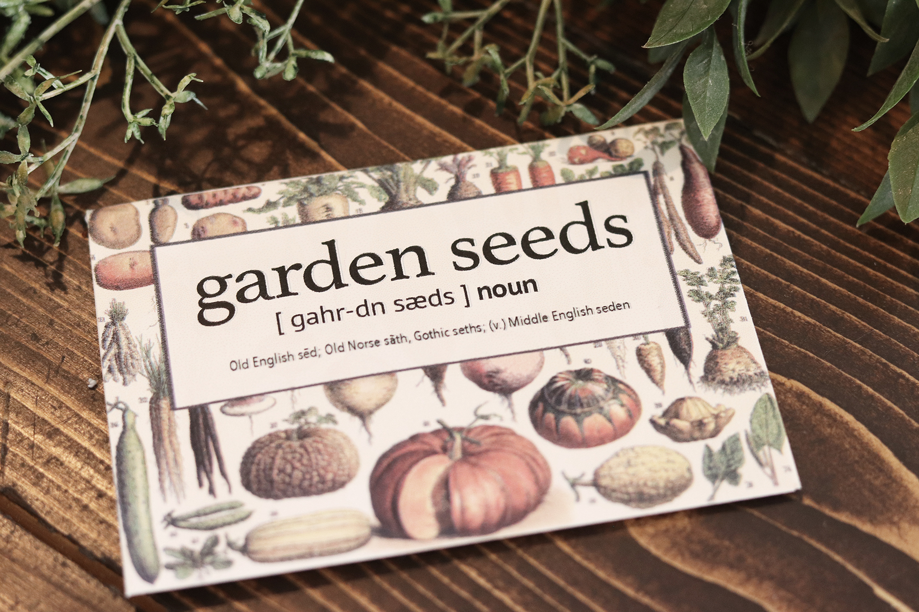 Boroughfare Home Cottage Garden Seed Packets Finished Packet