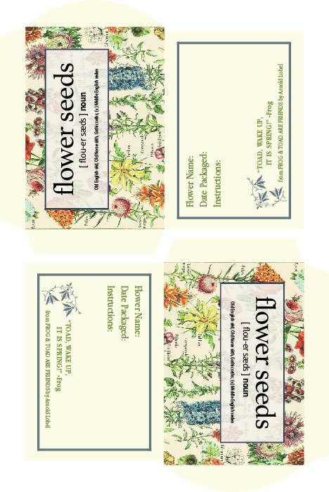 Boroughfare Home Flower Seeds Packet
