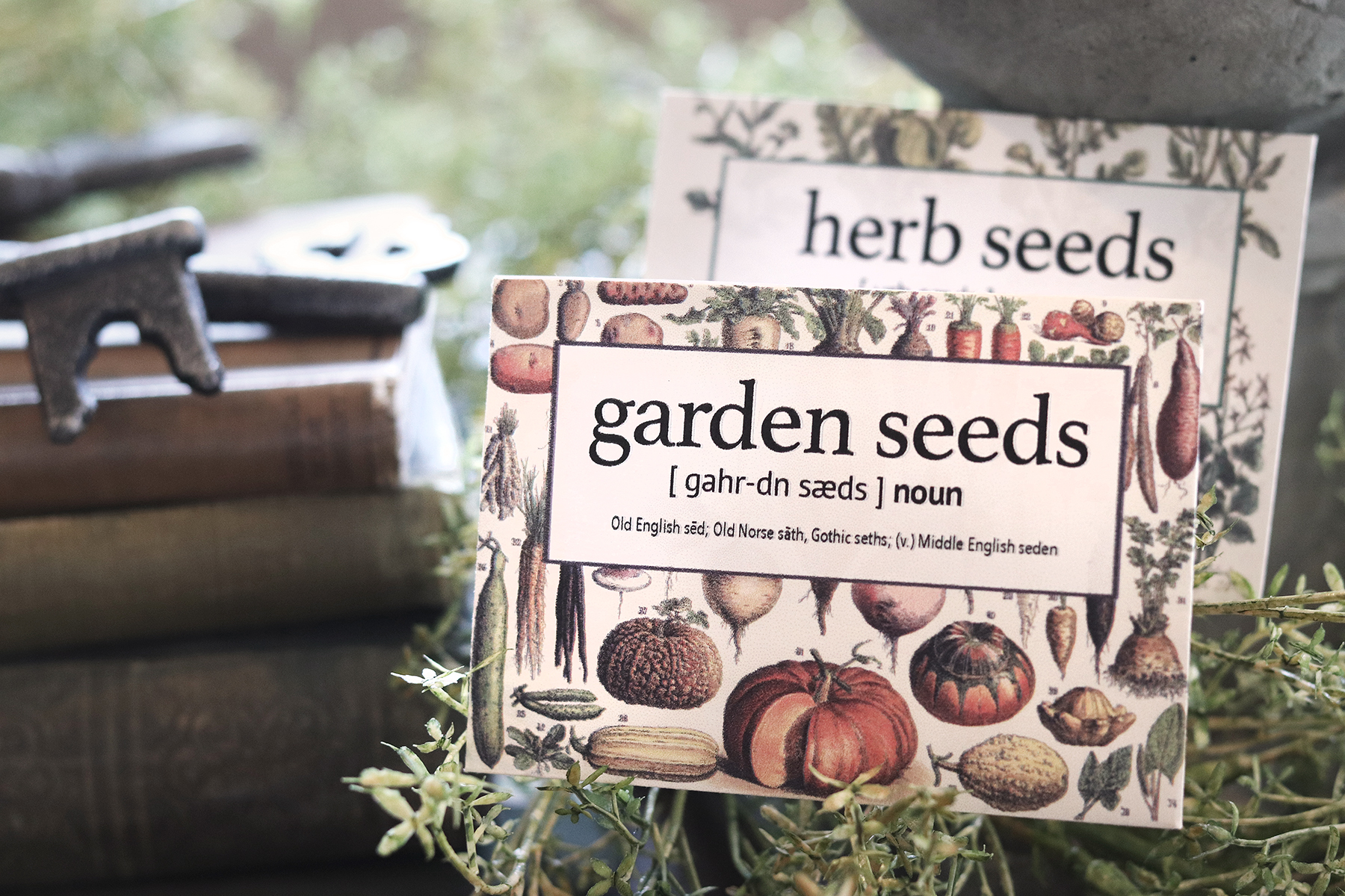 Boroughfare Home Cottage Garden Seed Packets