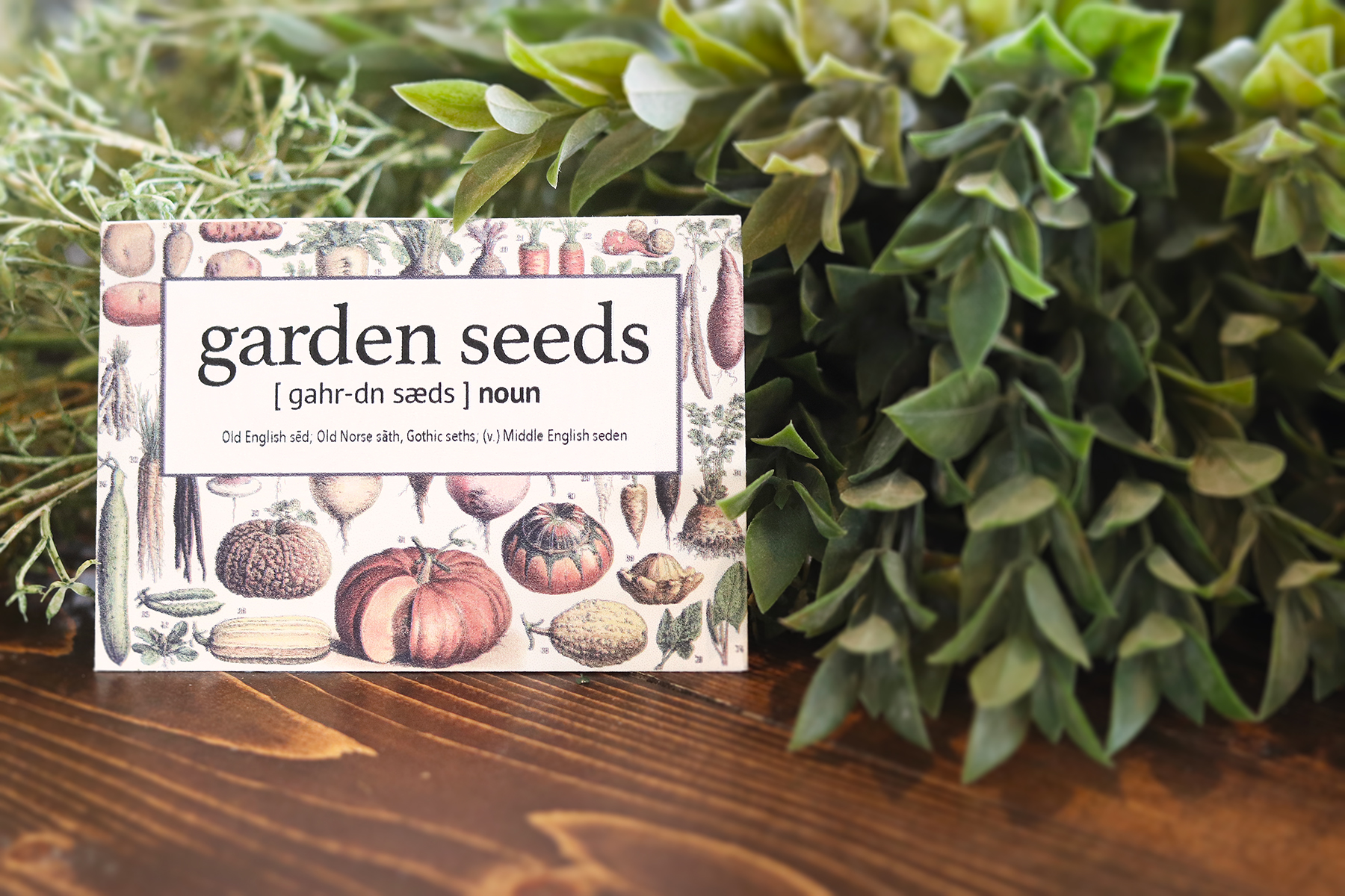 Boroughfare Home Cottage Garden Seed Packet Final with Greenery
