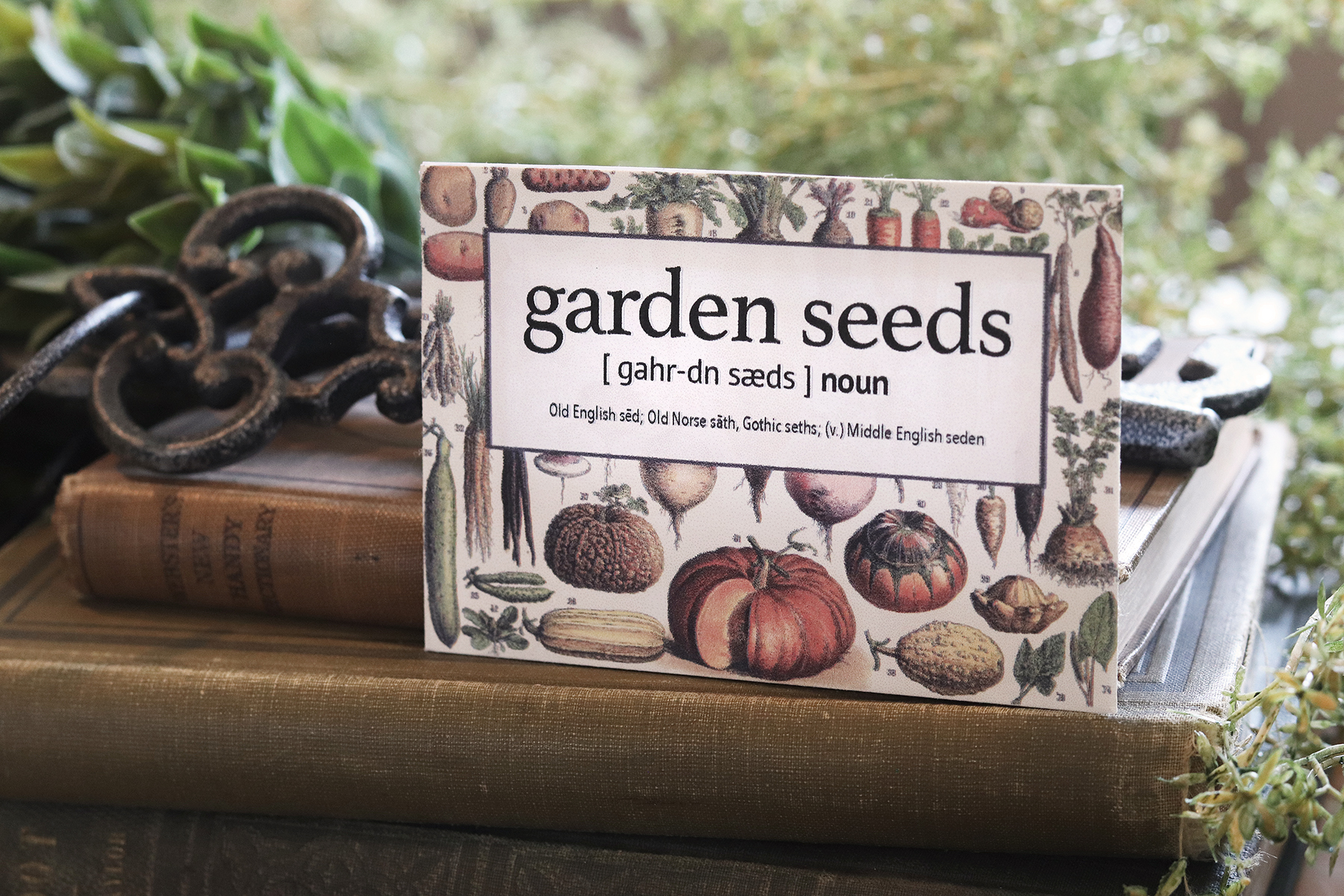 Boroughfare Home Cottage Garden Seed Packet with Books