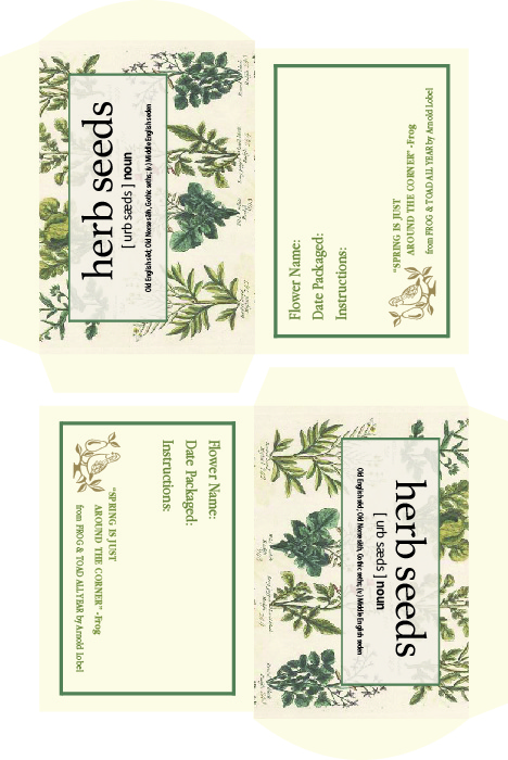 Boroughfare Home Cottage Herb Seed Packet