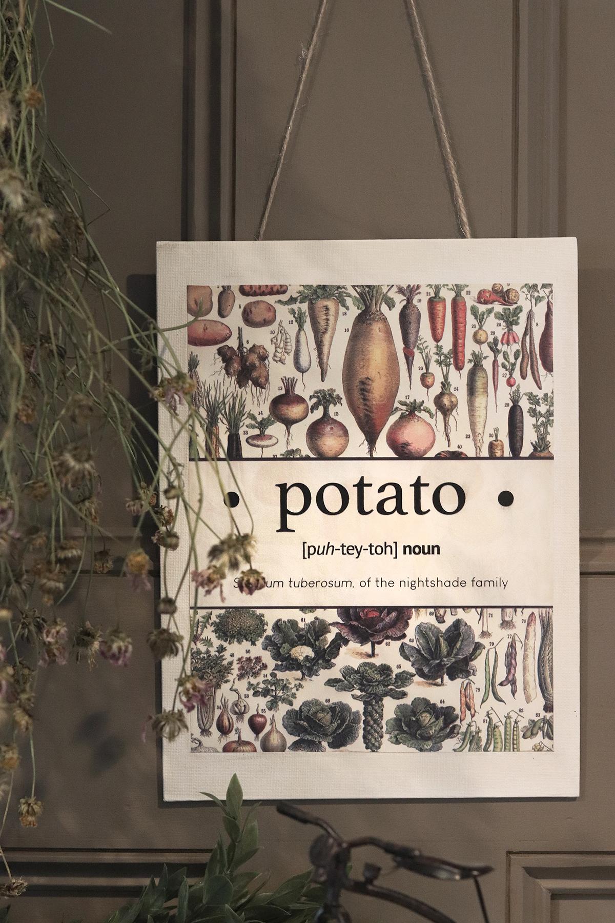 Boroughfare Home Cottage Garden Wall Hanging Potato
