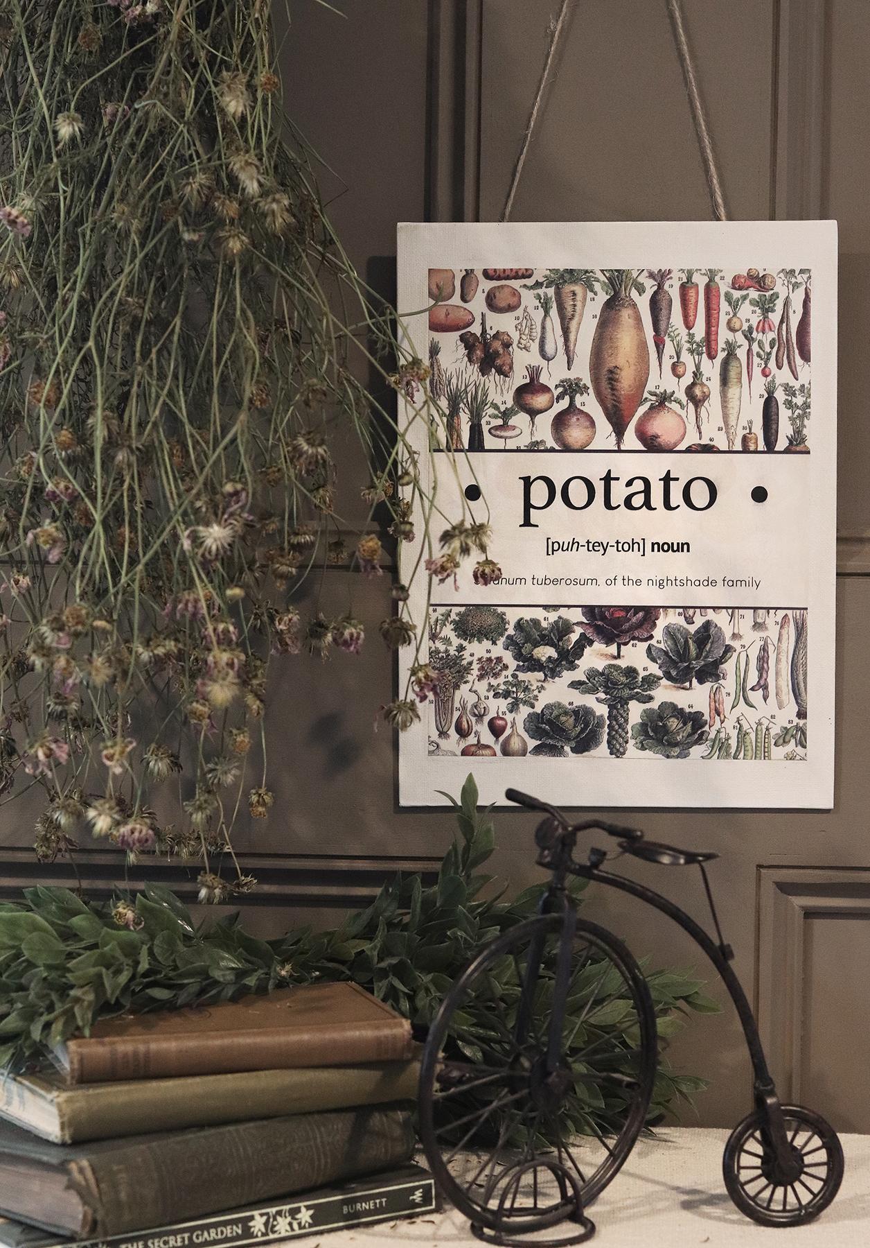 Boroughfare Home Cottage Garden Potato Wall Hanging